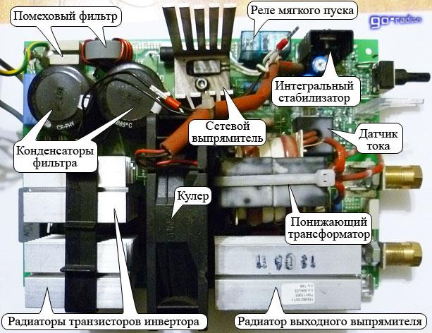 Принципиальная схема инвертора