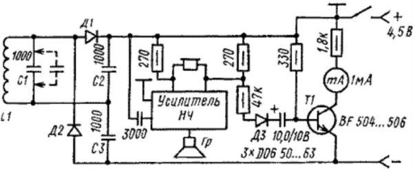 Схема глубинный металлоискатель своими руками