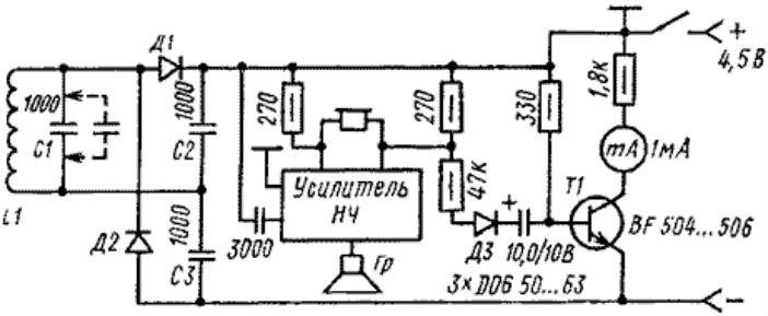 Схема глубинного металлоискателя своими руками