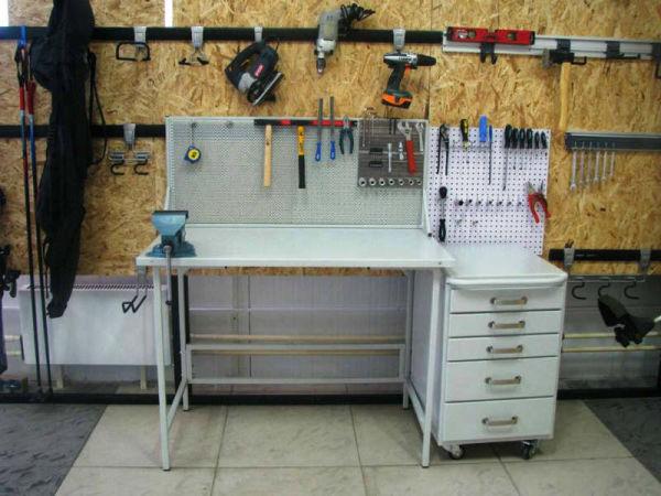 Металлический верстак для гаража своими руками